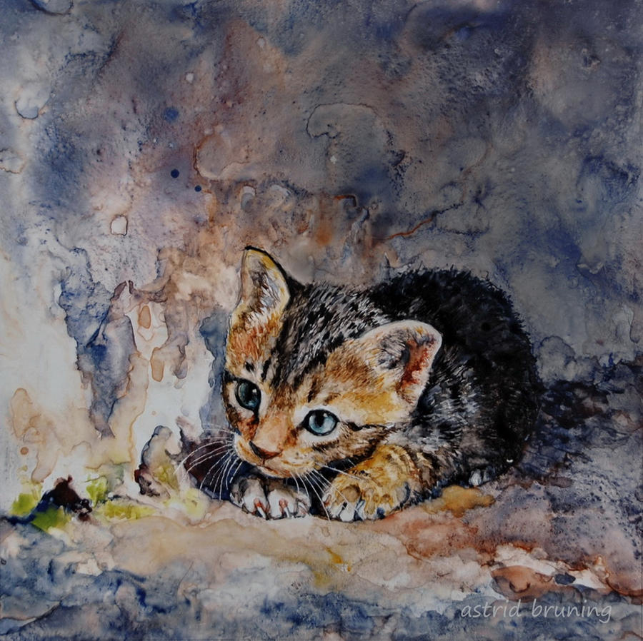 Alone - Watercolour by AstridBruning
