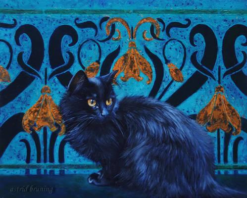 Le Chat Nouveau - Oil Painting