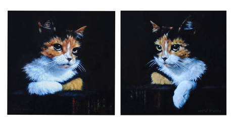 NIGHT WATCH 1 and 2 - OIL PAINTINGS