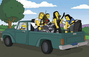Metallica at Simpsons by MetalQueen94