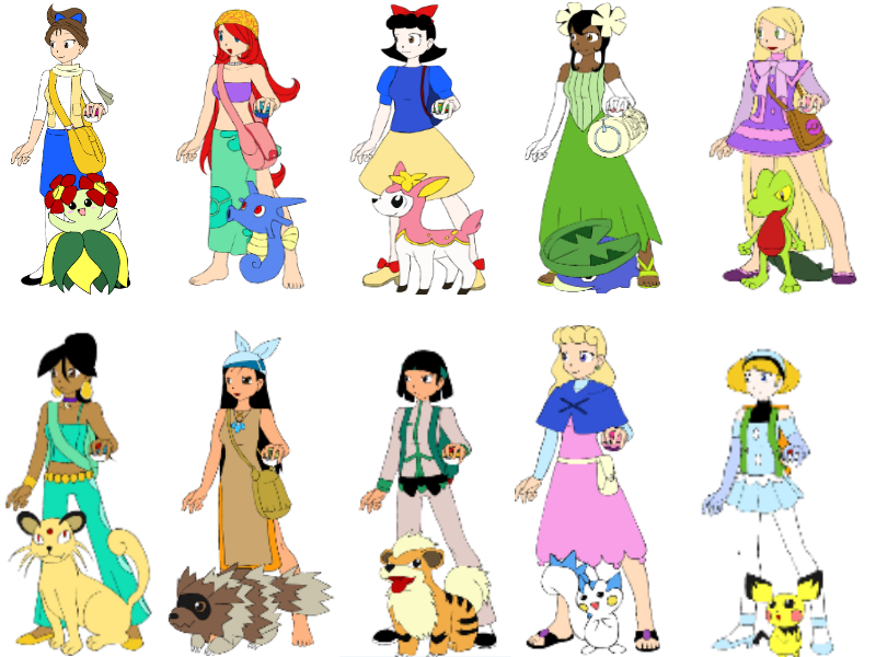 Pokemon Princesses by LoveGypsy64