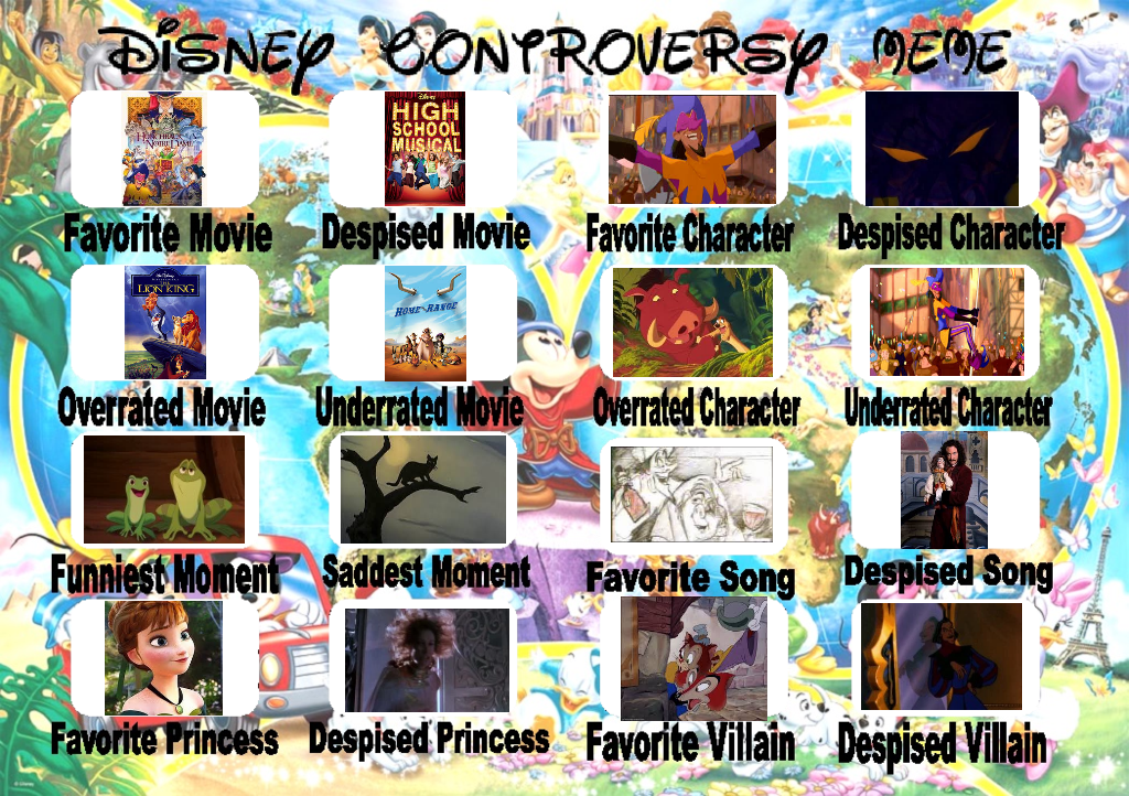 Disney Controversy Meme By Wandersong On Deviantart