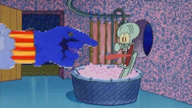 Flying Glove Drops By Squidward's House
