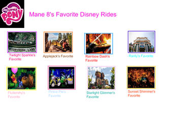 MLP favorite Disney rides (My version) by WanderSong