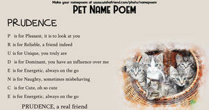 A Poem for Prudence