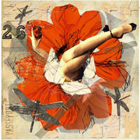jeune fille en fleurs by veroklotz