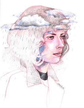 she's in the rain