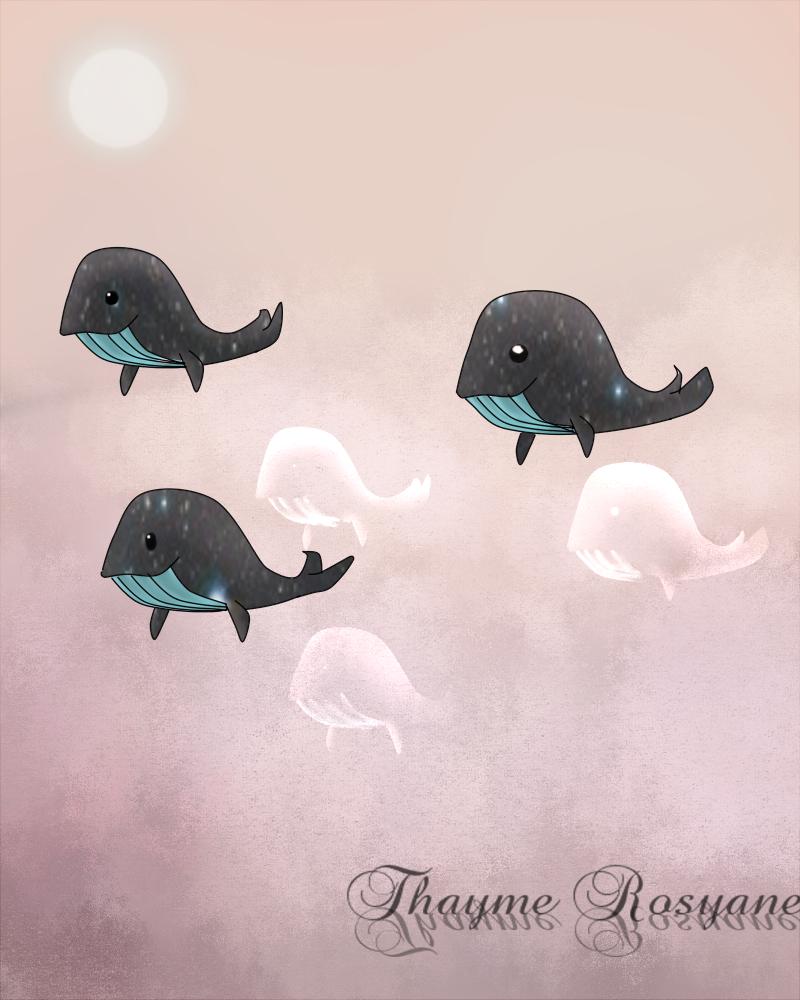 Speedpaint - Cosmic Whale by Rosyane