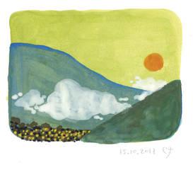 Misty Hills by Baleineau