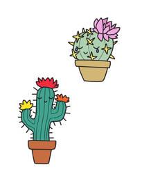 Cacti Tattoos by Baleineau