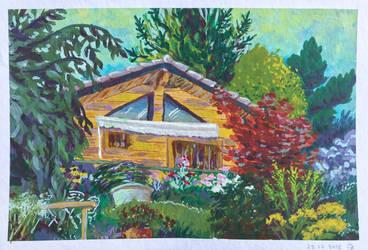 Cabin and a garden by Baleineau