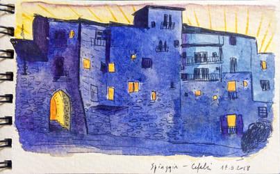 Di notte by Baleineau