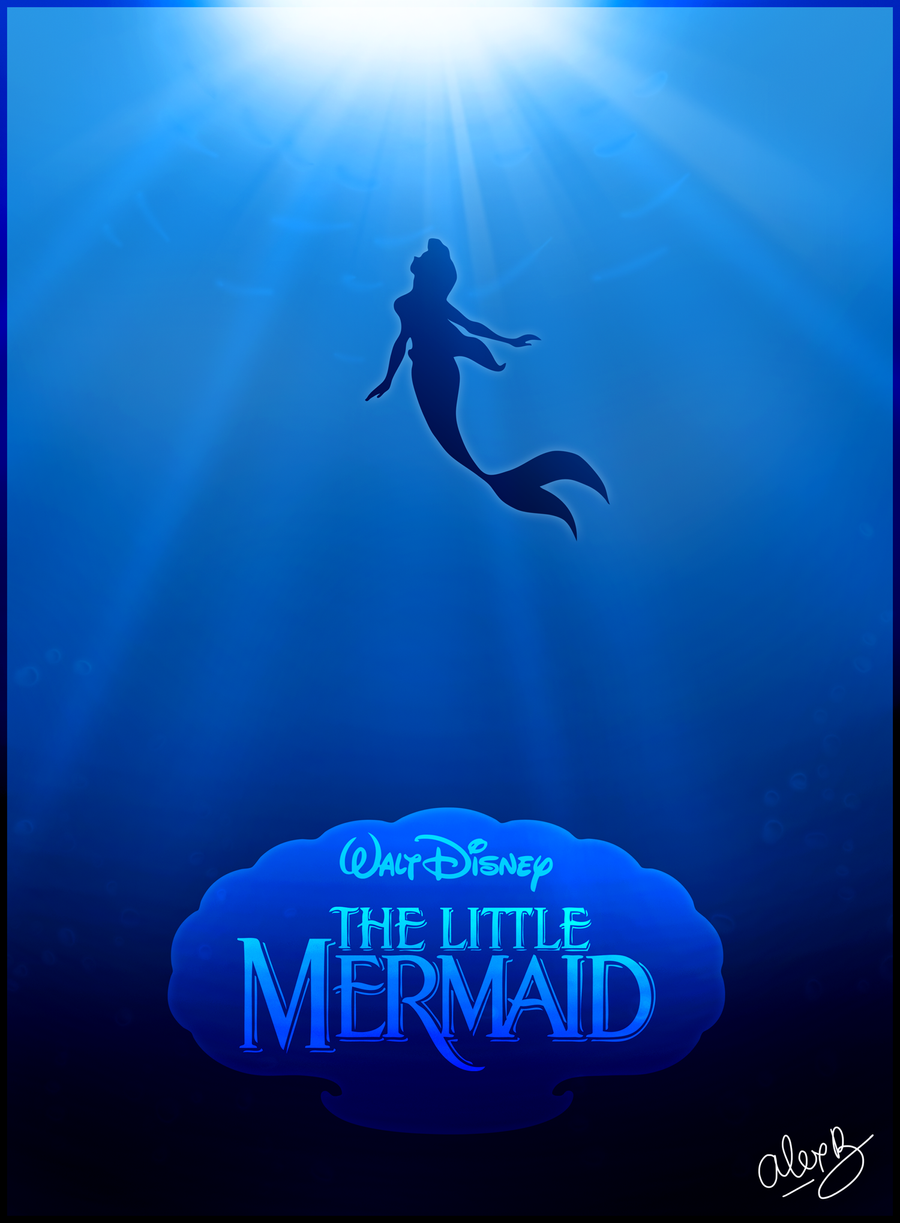 the little mermaid poster by alexanderbim on deviantart