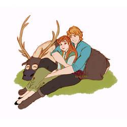Disney's Frozen - Anna, Kristoff and Sven - Colors