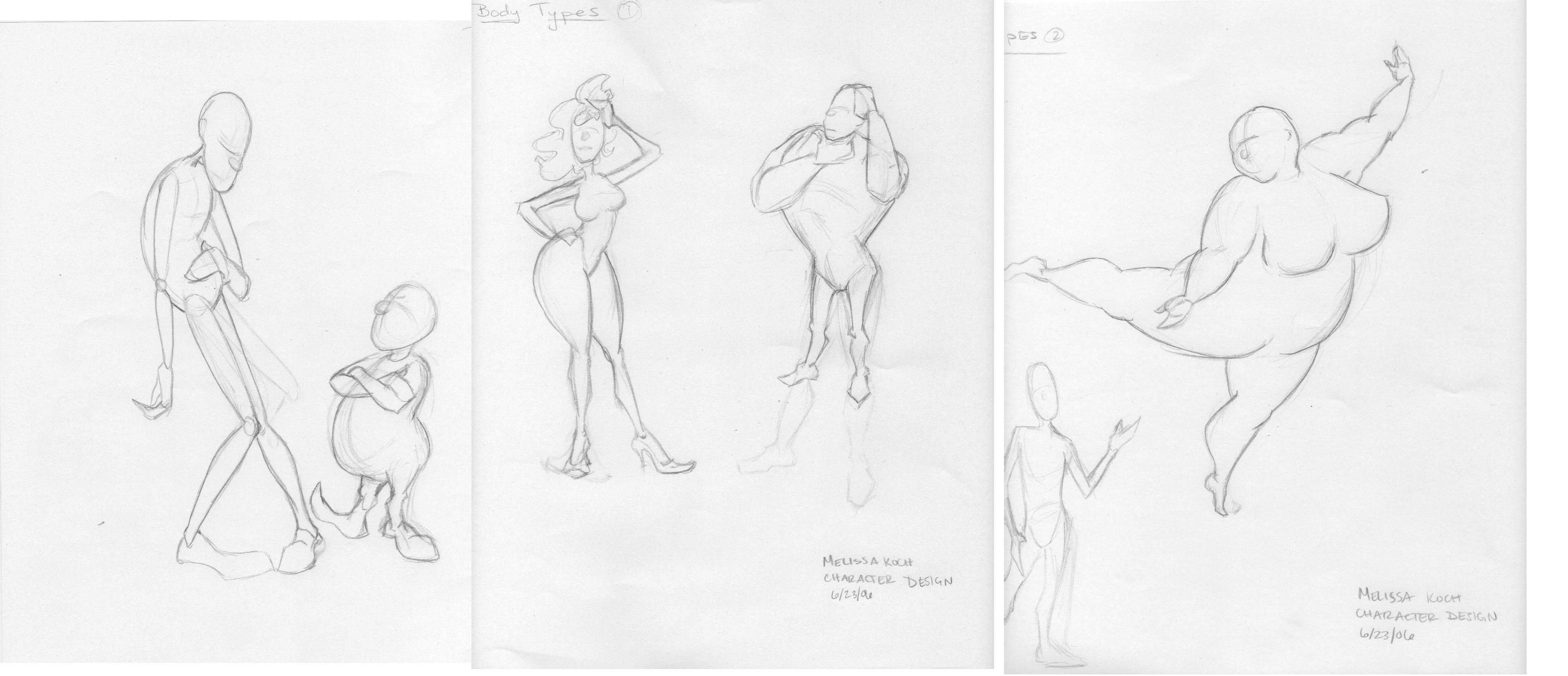 Character Design Body Shapes : Character design body types by faryndreyn on deviantart