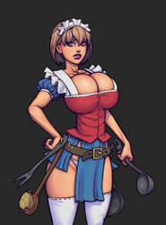 Warlock and boobs: Alice by boobsgames