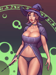 Warlock and boobs. Melissa by boobsgames
