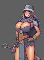 Warlock and boobs: Guard girl. Updated