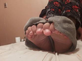 My feet and ripped socks 8