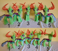 five prince thorax plushies for sale.