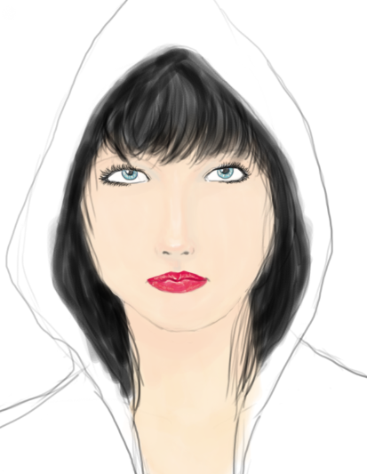 hoodie girl 2 WIP by erebusparcae