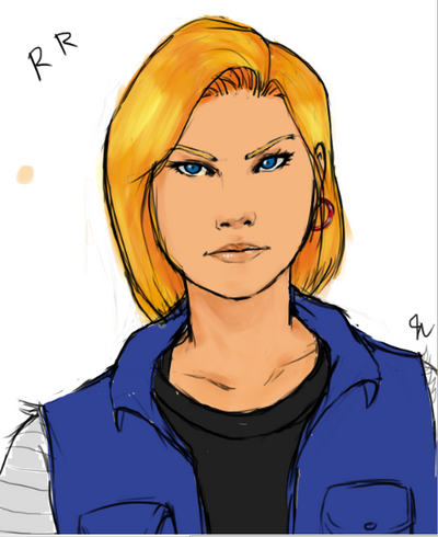 Android 18 ! by erebusparcae