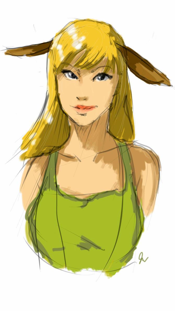 Llama girl by erebusparcae