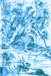 Creek in Blue - sketch by vanndra