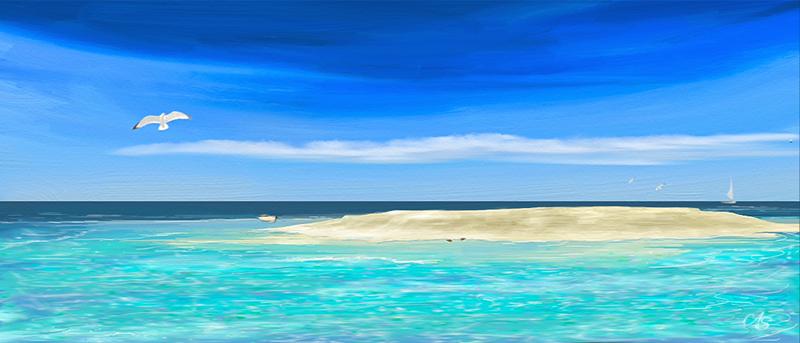 Sea and Sand by vanndra