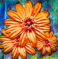 Orange Flower by vanndra