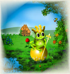 The Frog Prince (a Grimms Fairy Tale) by vanndra
