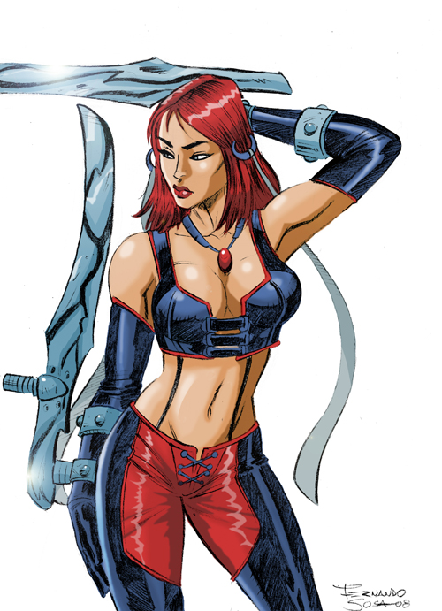 Bloodrayne pin-up 2008 by sapienstoonz
