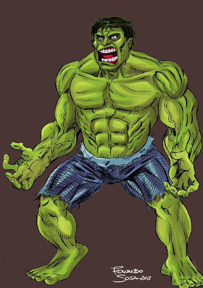 practicando con un Hulk by sapienstoonz