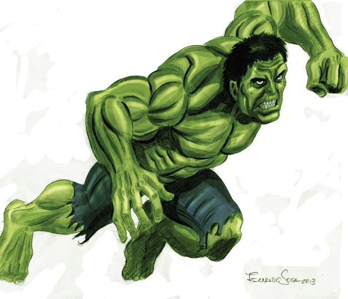 Hulk o un Bruce Banner muy enojado by sapienstoonz
