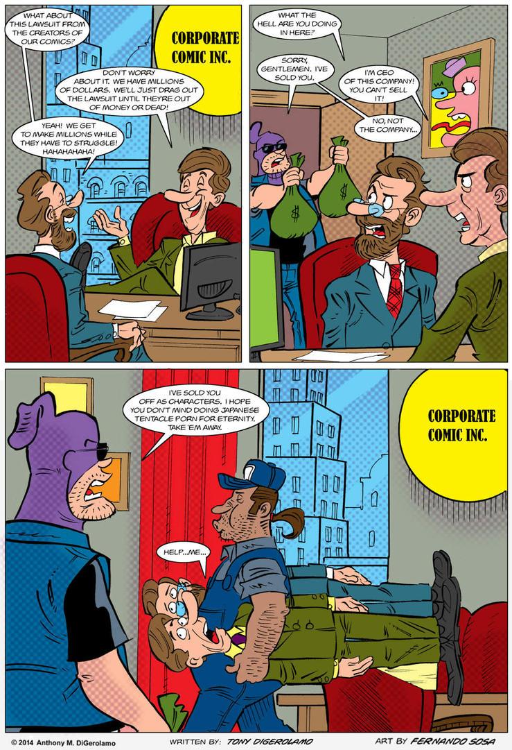 Tony Destructo strip 121 by sapienstoonz