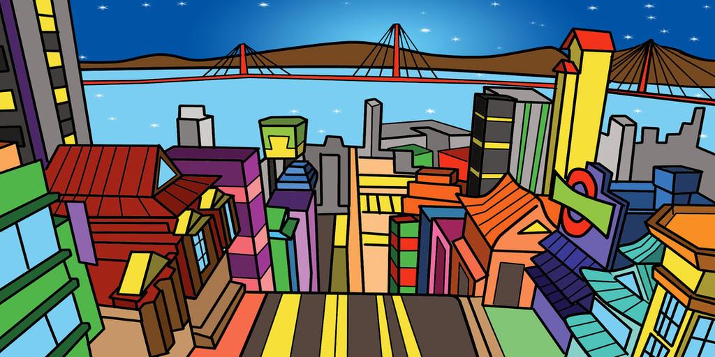 San Frantokio para juego by sapienstoonz