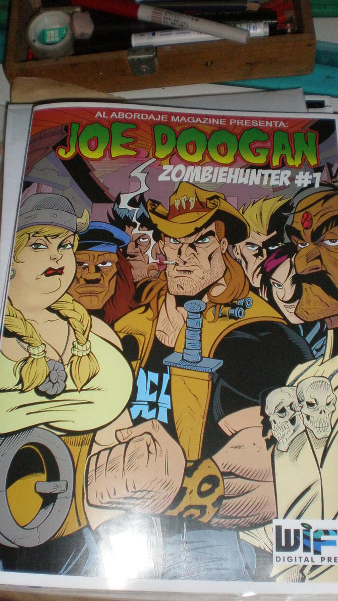 Joe Doogan zombiehunter by sapienstoonz