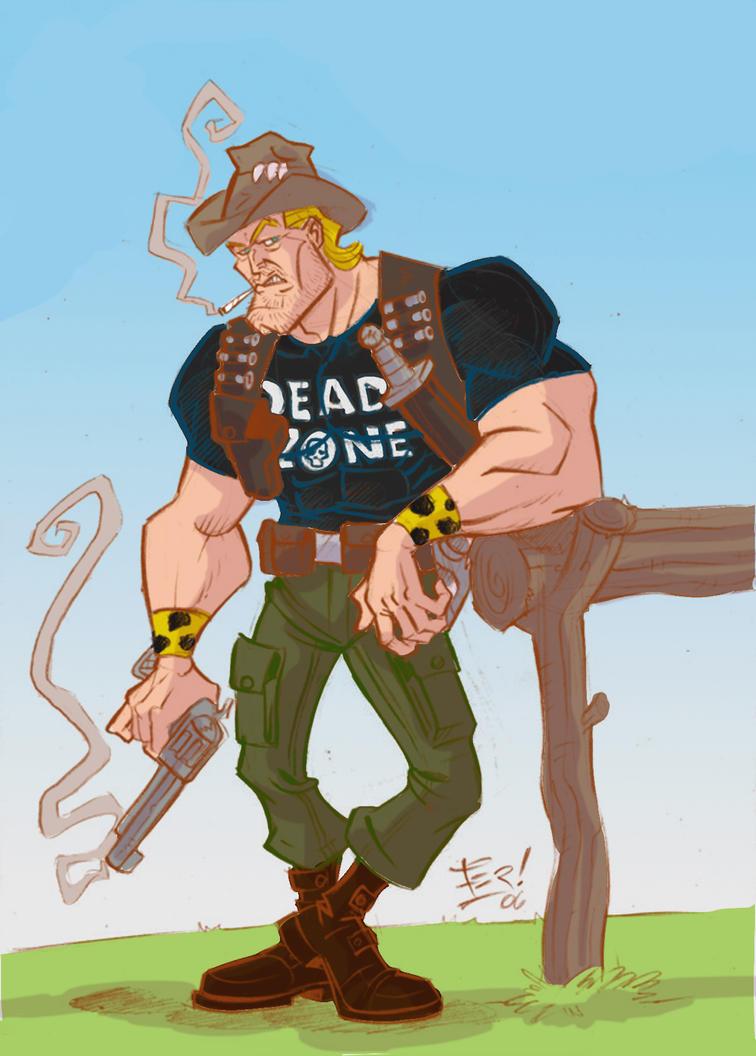 zombie hunter color por Fernando Sosa 2015 by sapienstoonz