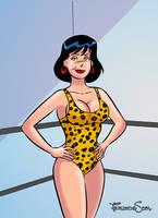 Commission wrestler girl by sapienstoonz