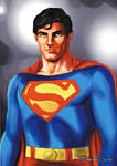 Christopher Reeves Superman by sapienstoonz