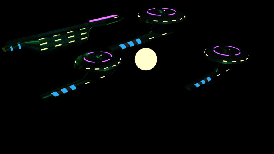 Just a fleet of spaceships by Sagirou