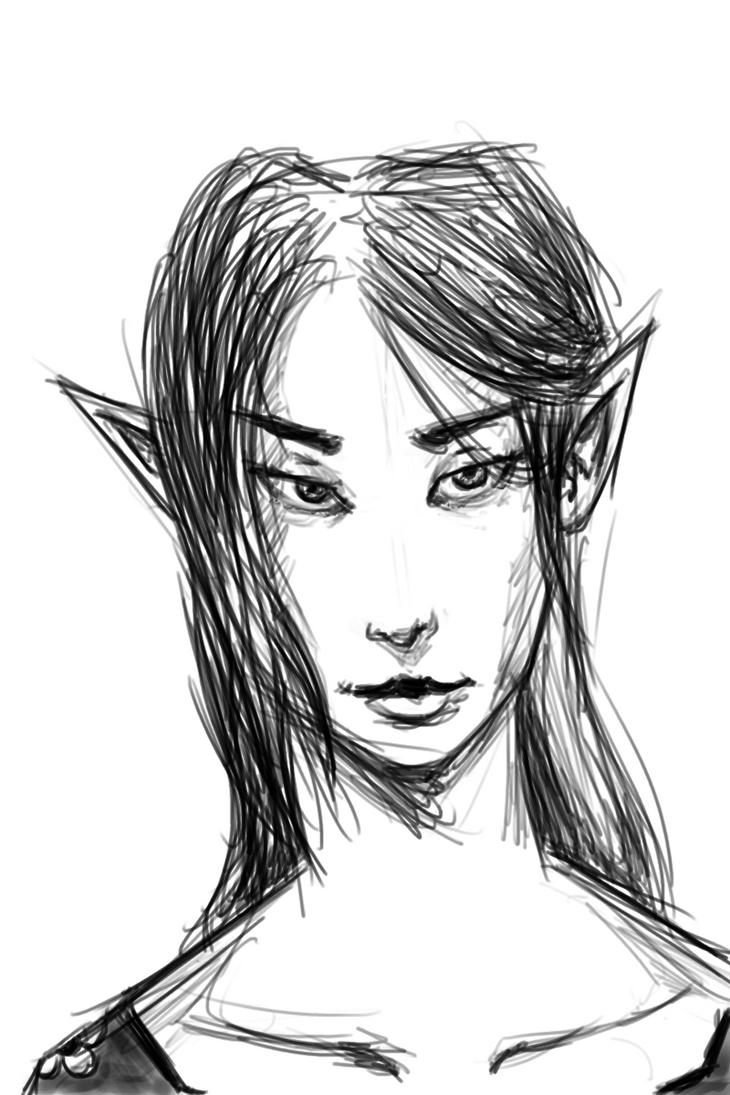 20170206 Semi Sketch Portrait by tennysonwu