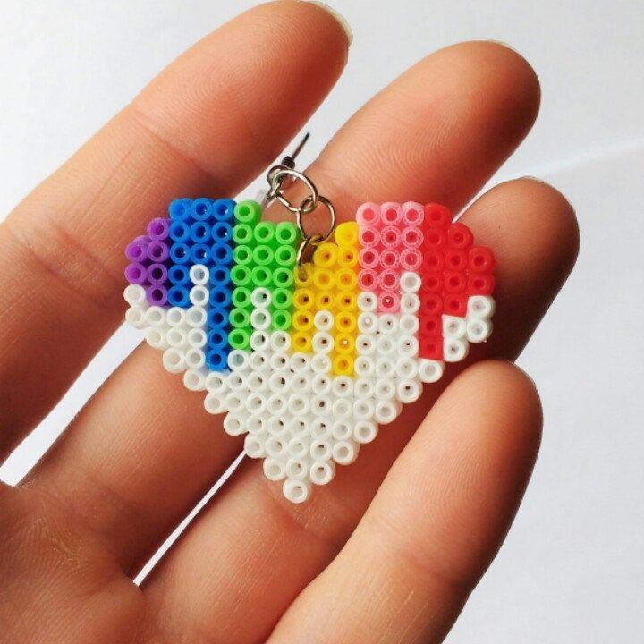Hama bead heart by Midnightshadow1238