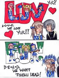 Aww Tohru has her own cheer X3 by kaya-kioko