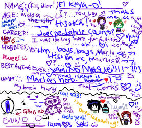 Neatest ID you'll ever see XO by kaya-kioko
