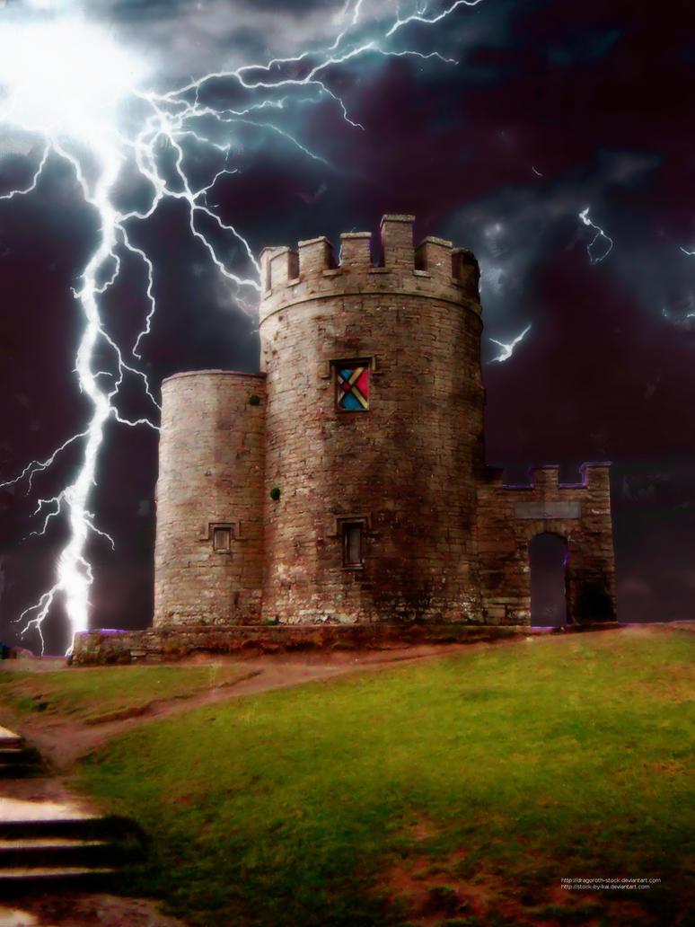 Castle with Lightning 1 by sanneb on DeviantArt