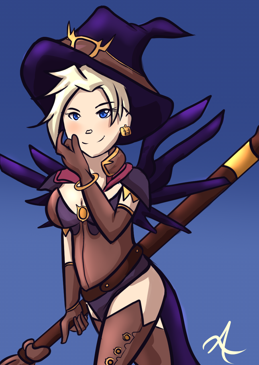 Mercy Witch - Overwatch Halloween Fanart by indorak on DeviantArt