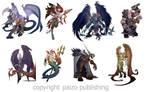 Pathfinder character illustrations