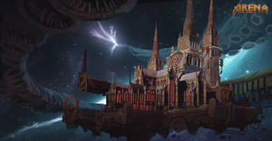 Arena environment concept by Rayph