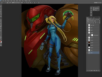 Samus color wip by Rayph